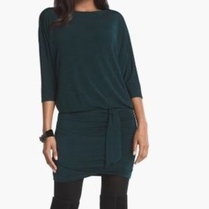 3/4 DOLMAN SLEEVE KNIT DRESS